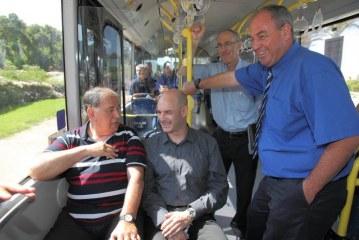 חיפה: נסיעת מבחן לאוטובוס המונע בגז