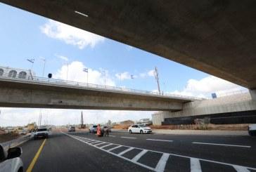 פרויקט חיבור כביש 9 לכביש 6 במחלף באקה נפתח לתנועה במתכונתו הסופית