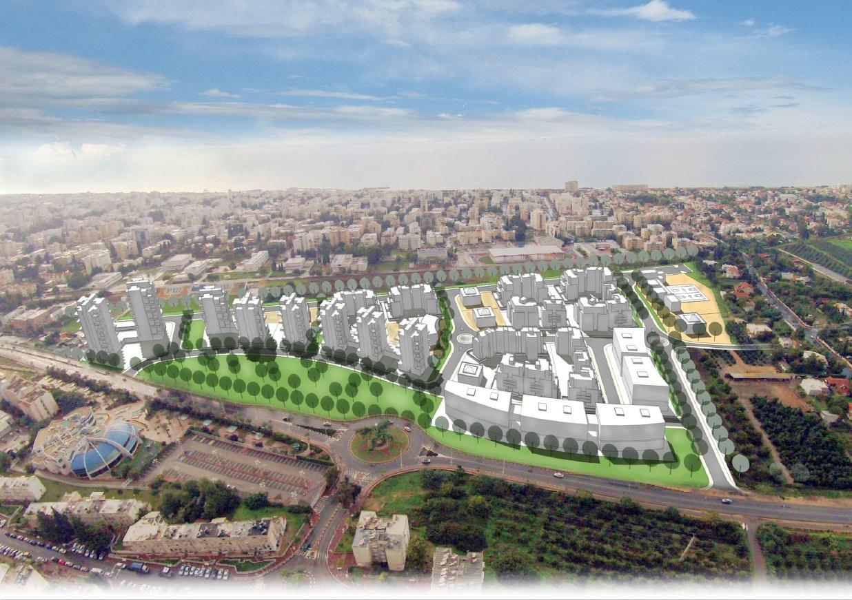 תכנית לשכונת מגורים בנהריה    קרדיט: קורין אדריכלים