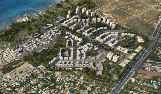 תכנית לשכונת מגורים בצפון הרצליה   קרדיט: מנעד אדריכלים
