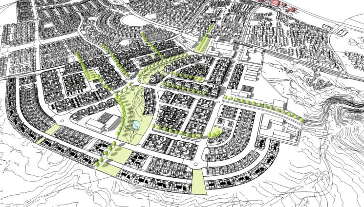 תכנית לשכונת מגורים בקצרין    קרדיט: קורין אדריכלים