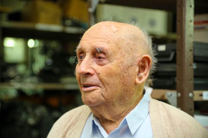 """יהודה לוסקי בן 100, נולד ברוסיה הלבנה צילום: יח""""צ"""