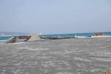 """58 אלף מ""""ק חול ים נקי הוזרמו לחופי הקריות"""