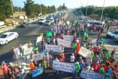 הפגנה נגד מפעל להתפלת מים