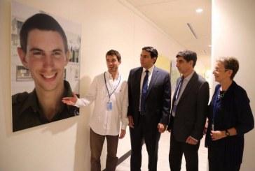 """תערוכת ציוריו של הדר גולדין מוצגת באו""""ם"""